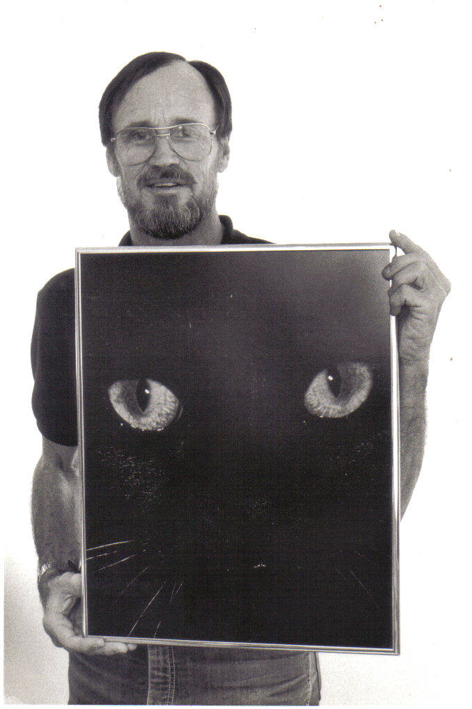 David with his photo of Cat's Eyes